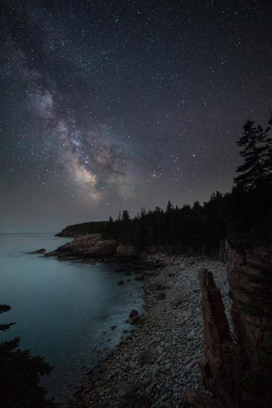 Arcadia National Park & The Milky Way. Photo by Nate Levesque. Tweeted by the US Department of the Interior, 7/30/15.