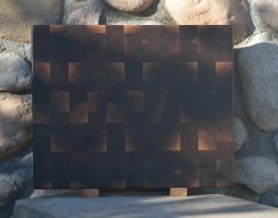 """Cutting Board # 15 - 064. Black Walnut. End Grain. 14-1/2"""" x 18"""" x 1-1/2""""."""