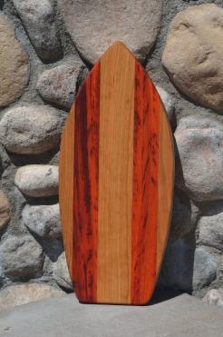 Medium Surfboard 15 - 02. Cherry and Padauk.