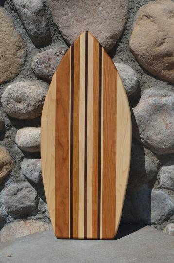 Medium Surfboard 15 - 05. Hard Maple, Cherry & Black Walnut.