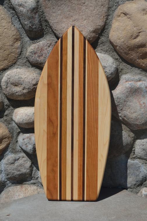 Medium Surfboard 15 - 05. Hard Maple, Cherry & Black Walnut.