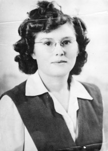 Letha Shull, Senior Picture, 1947 Horace Mann High School, Maryville, MO