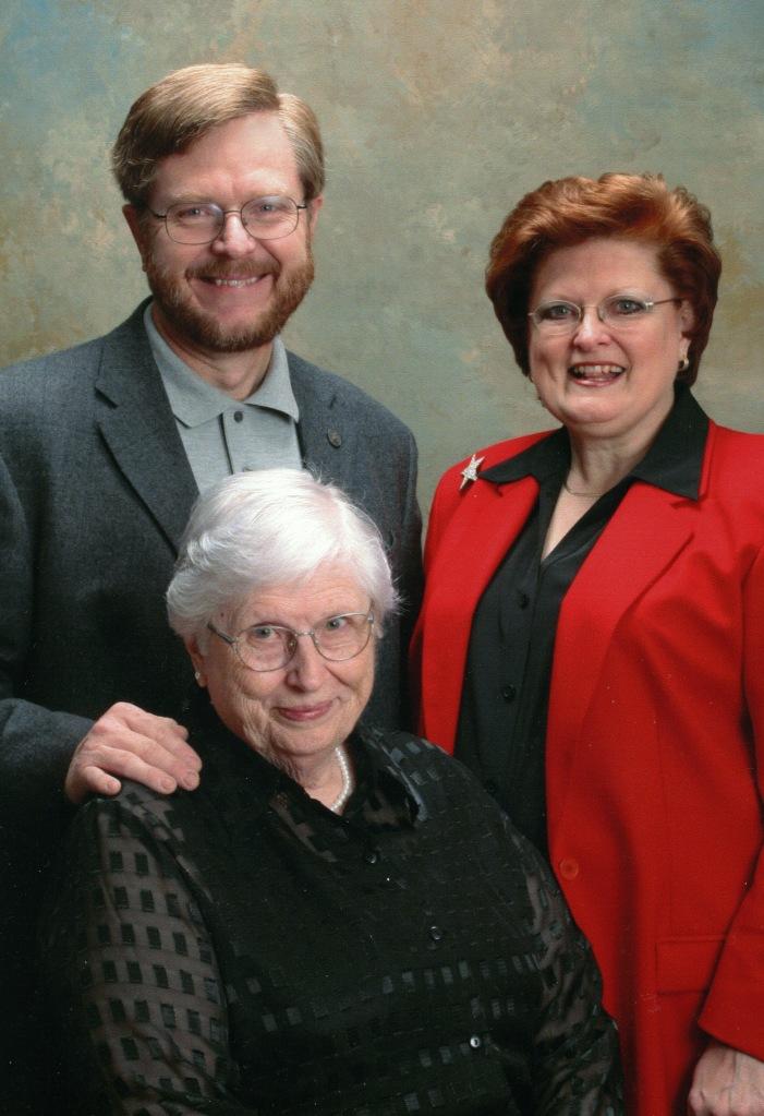 Letha, with Henry & Elizabeth. 2006.