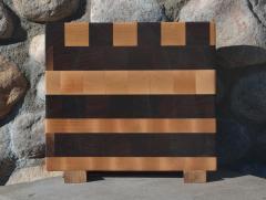 """Small Board # 15 - 045. Black Walnut & Hard Maple. 11-1/2"""" x 12"""" x 1-1/2""""."""