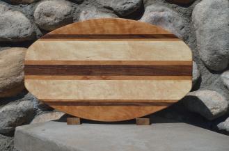 Large Surfboard # 15 - 21. Cherry, Black Walnut & Hard Maple.