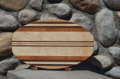 Large Surfboard # 15 - 24. Red Oak, Black Walnut, Hard Maple, Goncalo Alves & Cherry..