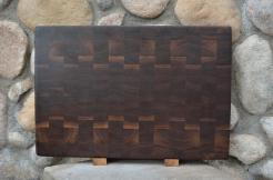 "Cutting Board # 15 - 073. Black Walnut. End Grain. 16"" x 20"" x 1-1/2"". Commissioned piece."