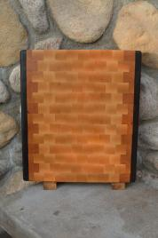 "Cutting Board # 15 - 079. Black Walnut, Cherry & Hard Maple. End Grain. 13"" x 17"" x 1-1/4""."