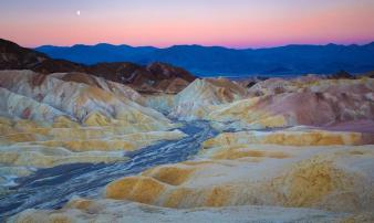 Sunrise & moonset make for a wonderful setting in Death Valley National Park. Photo by Andrii Iasynetskyi. Tweeted by the US Department of the Interior, 10/5/15.