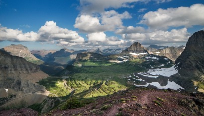 Glacier National Park in Montana never disappoints. The view from Mount Oberlin. Photo by Tim Rains, National Park Service. Posted on Tumblr by the US Department of the Interior, 8/27/15.