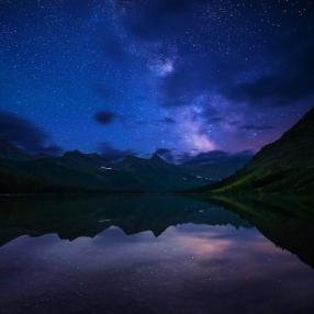 The Milky Way over Glacier National Park. Photo by Paul Weeks. Tweeted by the US Department of the Interior, 9/16/15.