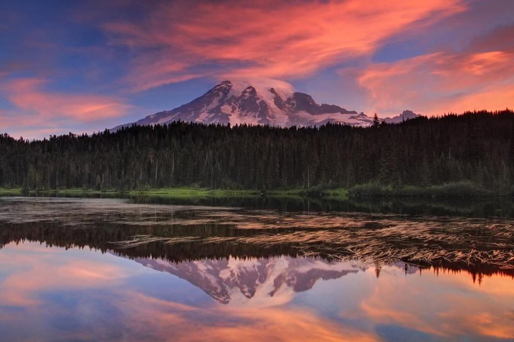 Washington's Mount Rainier National Park at sunrise. Photo by Xavier Cohen. Posted on Tumblr by the US Department of the Interior, 10/11/15.