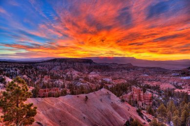 Now that's a WOW sunrise! Bryce Canyon National Park in Utah. Photo by Santosh Kanthety. Tweeted by the US Department of the Interior, 11/5/15.