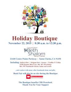 CBS Holiday Boutique REVISED 2015 Flyer