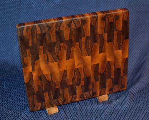 """Cutting Board # 15 - 082. Black Walnut. End Grain. 12"""" x 15"""" x 1-1/8""""."""