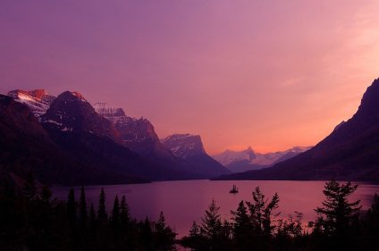 Glacier National Park at sunset. Photo by Matt Simons. Tweeted by the US Department of the Interior, 11/7/15.