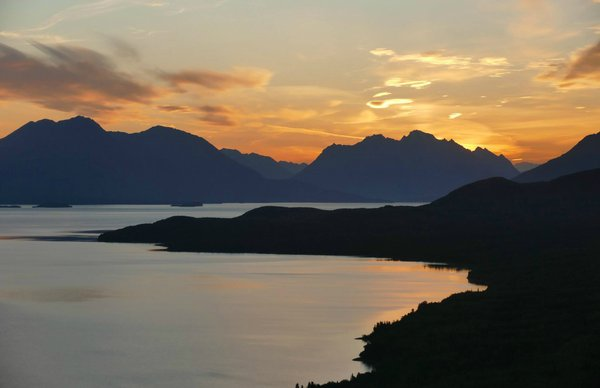 Sunrise over Lake Clark National Park. Tweeted by the US Department of the Interior, 11/19/15.