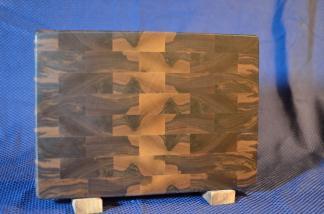 """Small Board # 15 - 059. Black Walnut. End Grain. 10"""" x 12"""" x 1-1/4""""."""
