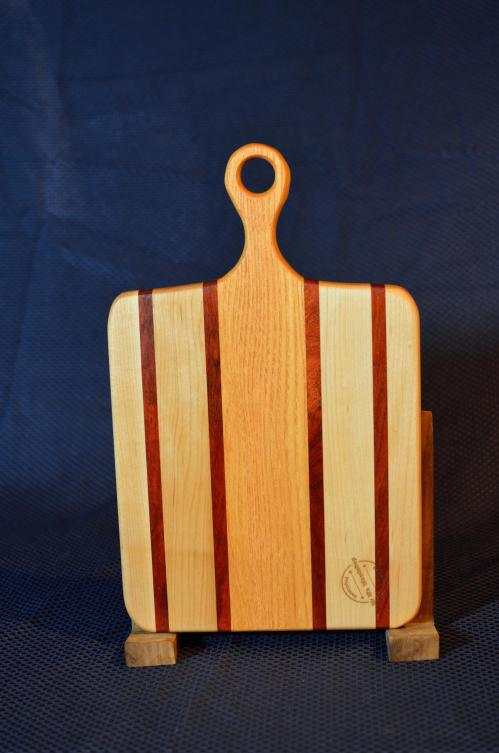"Sous Chef # 15 - 41. Hard Maple, Bloodwood & Honey Locust. 9"" x 16"" x 3/4""."
