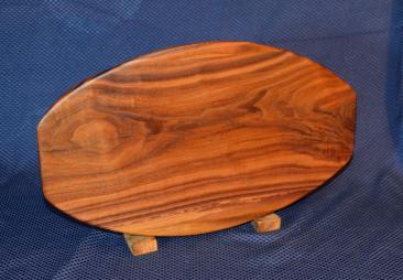 """Surfboard # 15 - 30. Black Walnut. 12"""" x 19"""" x 1-1/4""""."""