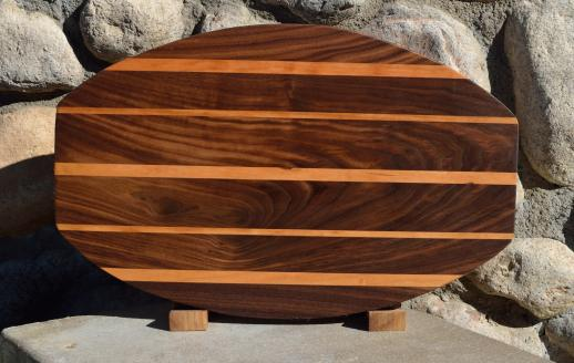 "Surfboard # 15 - 41. Black Walnut & Cherry. 12"" x 19"" x 1-1/4""."