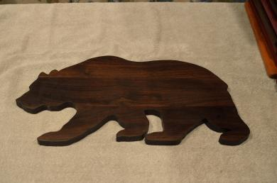 "Bear # 15 - 02. Black Walnut. Edge Grain. 10"" x 20"" x 3/4""."