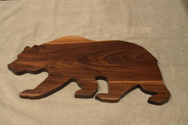 """Bear # 15 - 03. Black Walnut. Edge Grain. 10"""" x 20"""" x 3/4""""."""