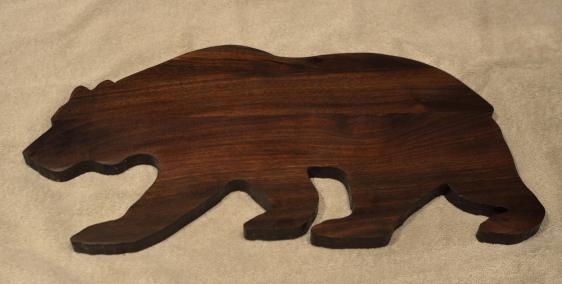 """Bear # 15 - 04. Black Walnut. Edge Grain. 10"""" x 20"""" x 3/4""""."""