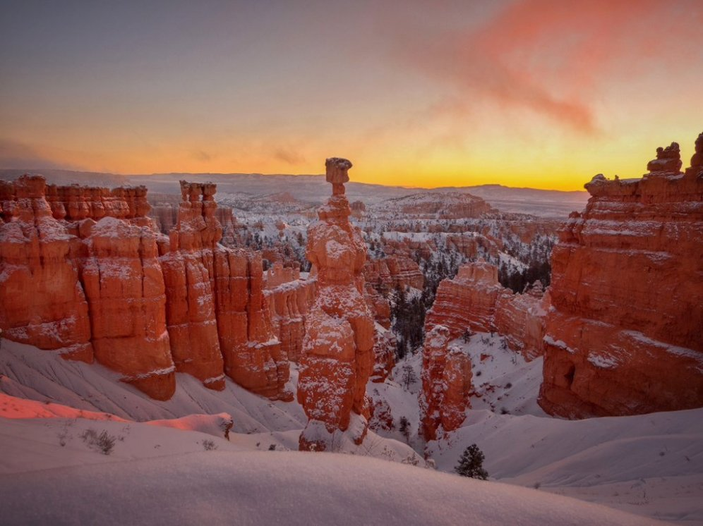 Utah's Bryce Canyon National Park at sunrise. Tweeted by the US Department of the Interior, 12/10/15.