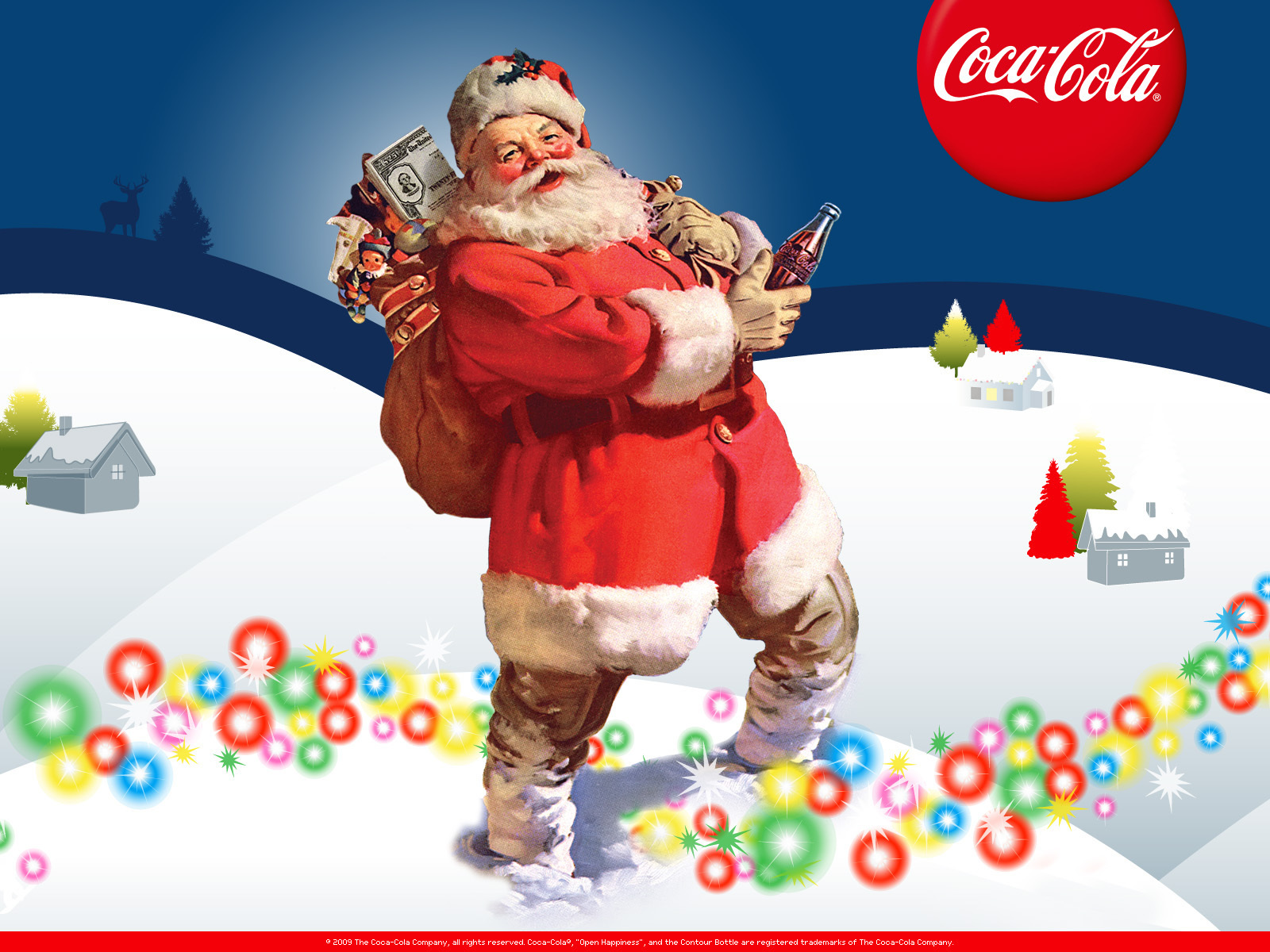 Clearly And coca cola santa claus are