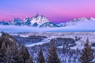 "Snowy mountains are gorgeous, but can be challenging models. Casey Withers was recently at Grand Teton National Park in Wyoming trying to capture the sunrise. It was a cold morning and clouds were moving in. ""This shot was set up originally as a test shot as we waited for sunrise, but three minutes later the mountains were covered. Glad I was prepared."" Photo by Casey Withers. Posted on Tumblr by the US Department of the Interior, 12/22/15."