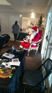 Santa's a very busy man this time of the year.