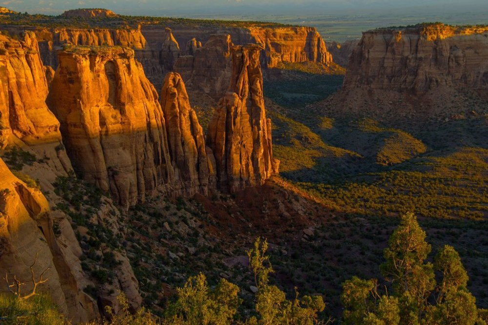 Colorado National Monument at sunrise. Photo by Richard Briggs  Tweeted by the US Department of the Interior, 2/8/16.