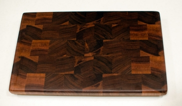 "Small Board 16 - 001. Black Walnut. End Grain. 9"" x 14"" x 15/16""."