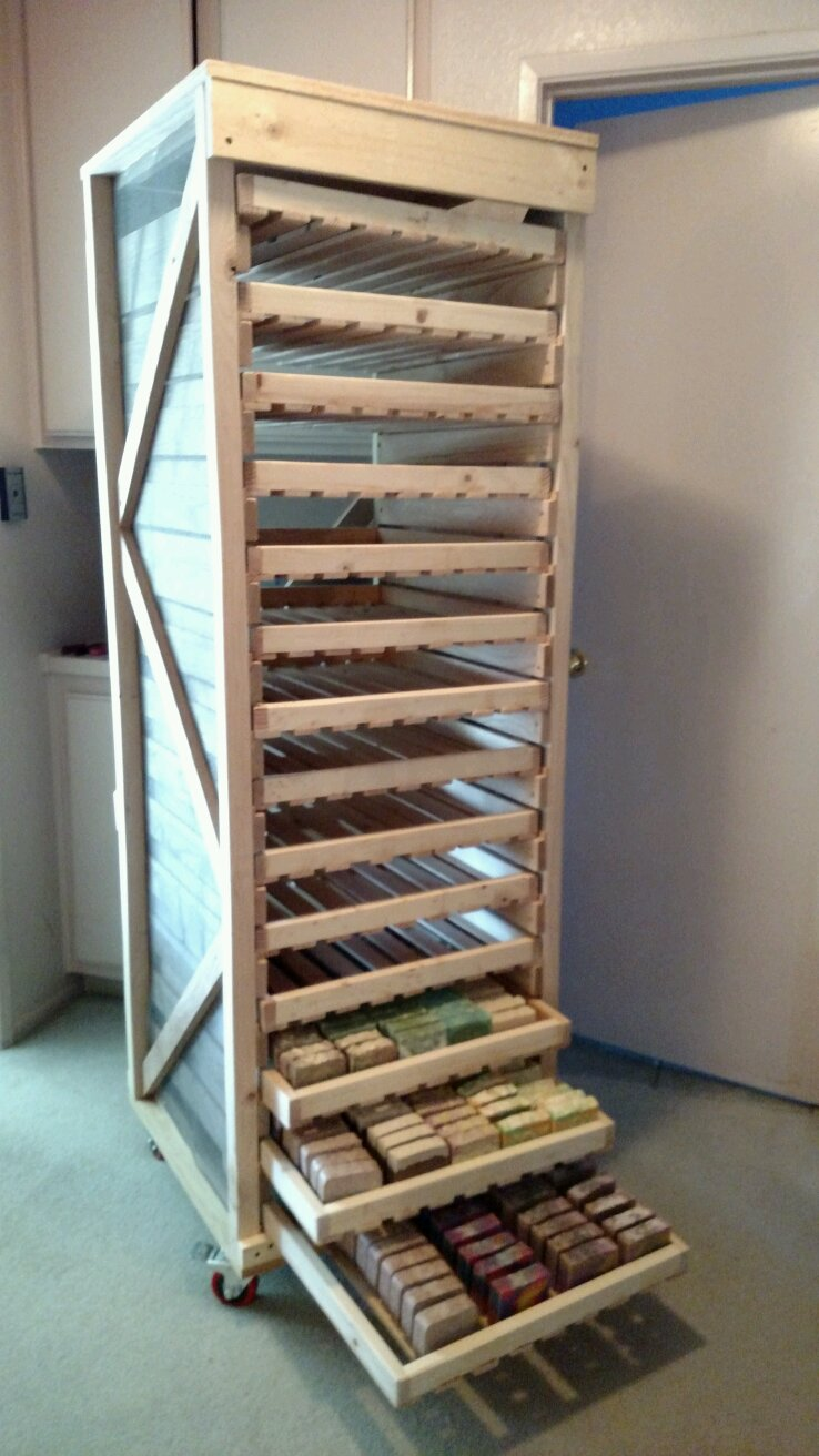 Homemade Screen Drying Cabinet Plans ~ Soap drying rack mowryjournal