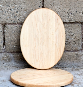 """Cheese Board 16 - 002. Hard Maple. 9"""" x 12"""" oval, 3/4"""" thick."""