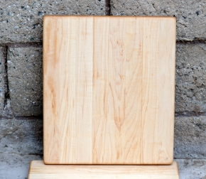 "Cheese Board 16 - 003. Hard Maple. 10"" x 11"" x 3/4""."