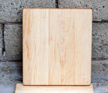 "Cheese Board 16 - 003. Hard Maple. 10"" x 11"" x 3/4""."