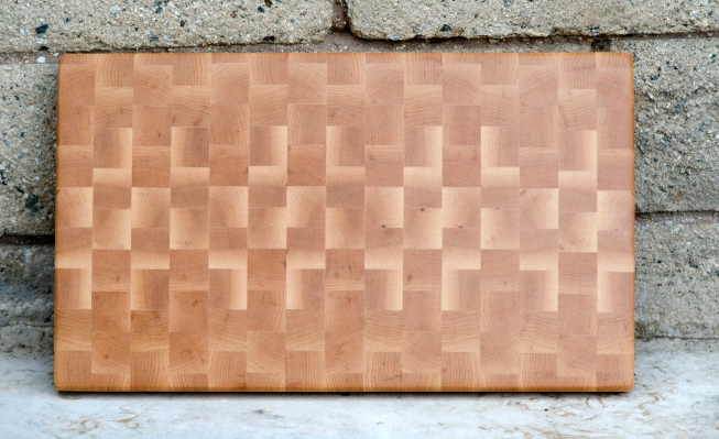 "Cutting Board 16 - End 016. Hard Maple. End Grain. 11"" x 17"" x 1-1/8""."