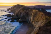 In this sunset stunner, the steep cliffs of Chimney Rock dive to meet the Pacific Ocean at Point Reyes National Seashore in California. Photo by Anela Ramos. Tweeted by the US Department of the Interior, 3/4/16.