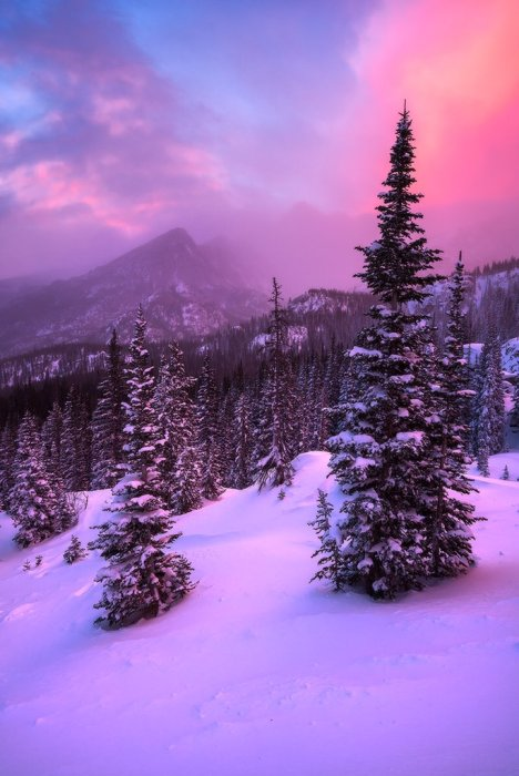 Sunrise over Rocky Mountain National Park. Photo by Erik Page. Tweeted by the US Department of the Interior, 2/13/16.