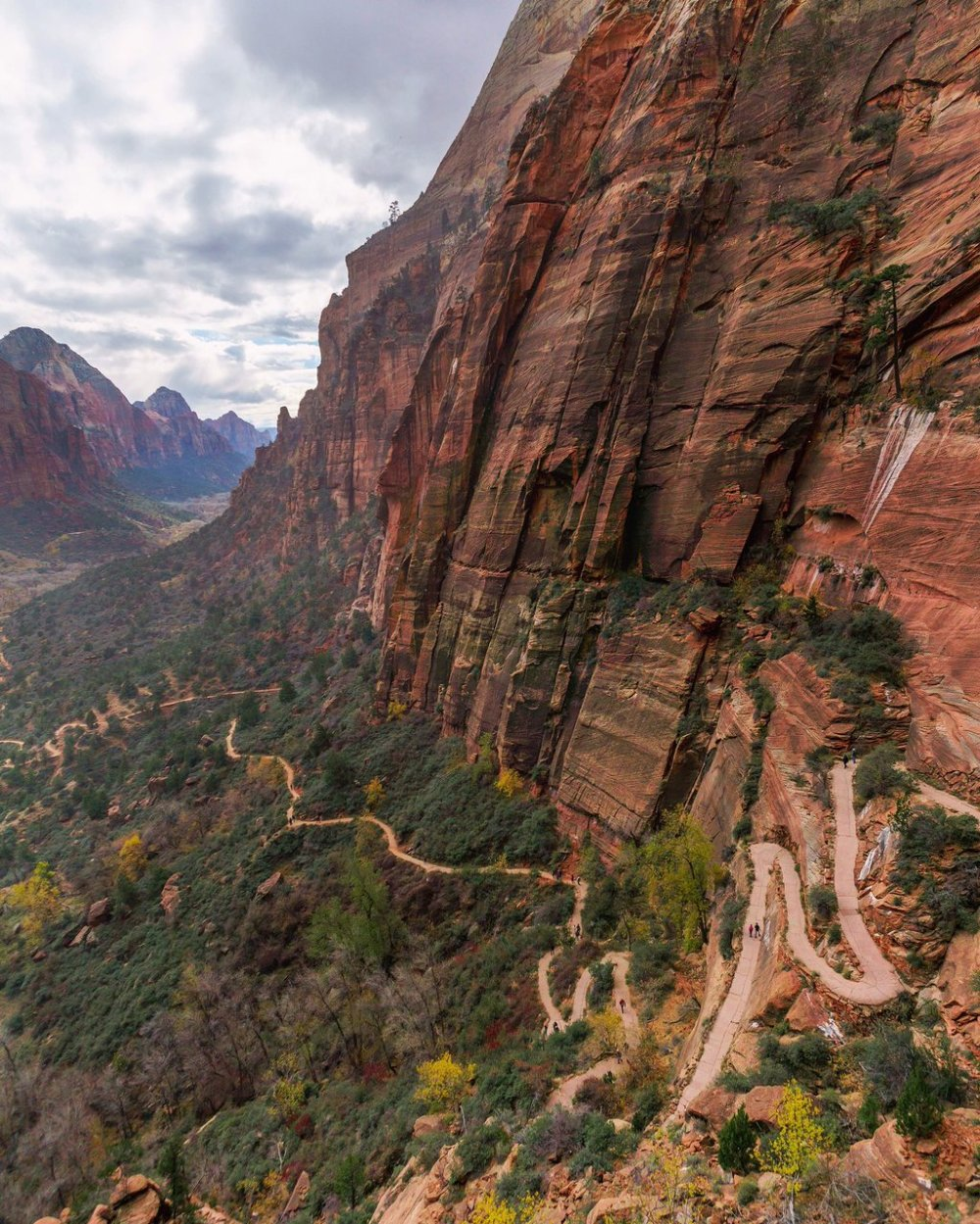 Hiking Angels Landing to Observation Point is one of the 2 iconic hikes in Zion National Park (The other being The Narrows). Angels Landing is not for the faint of heart, though, as the narrow trail has a steep drop off for much of it's climb. Tweeted by the US Department of the Interior, 3/29/16.