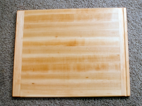 """Cutting Board 16 - Edge 008. Hard Maple. Bread Board Ends. In-counter replacement board. Commissioned Piece. 16"""" x 20"""" x 3/4""""."""