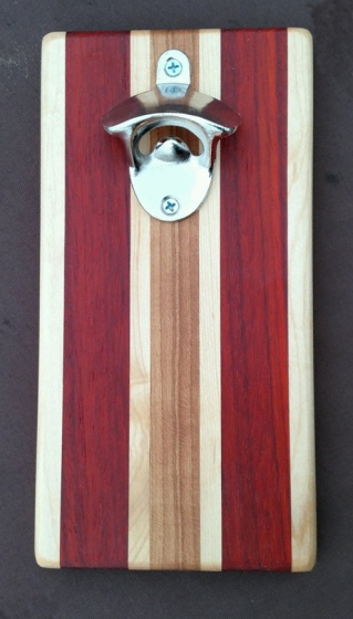 Magic Bottle Opener 16 - 025. Hard Maple, Padauk & Cherry.