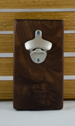 Magic Bottle Opener 16 - 042. Quilted Black Walnut.