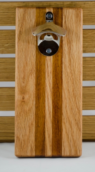Magic Bottle Opener 16 - 050. Red Oak & Jatoba.