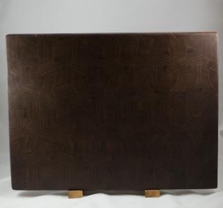 "Cutting Board 16 - End 037. Black Walnut, End Grain. 16"" x 21-1/2"" x 1-1/2"". Commissioned piece."