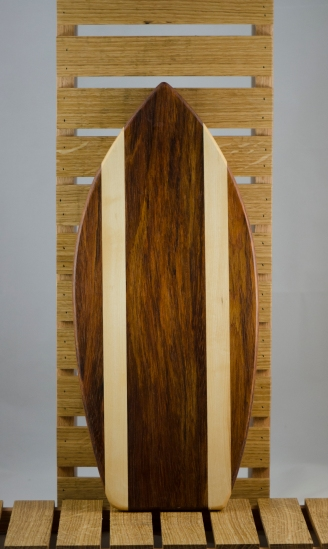 Medium Surfboard 16 - 02. Jatoba & Hard Maple. Sold in its first showing.