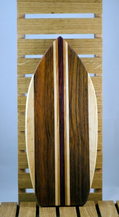 Medium Surfboard 16 - 04. Hard Maple, Jatoba, Cherry & Black Walnut.