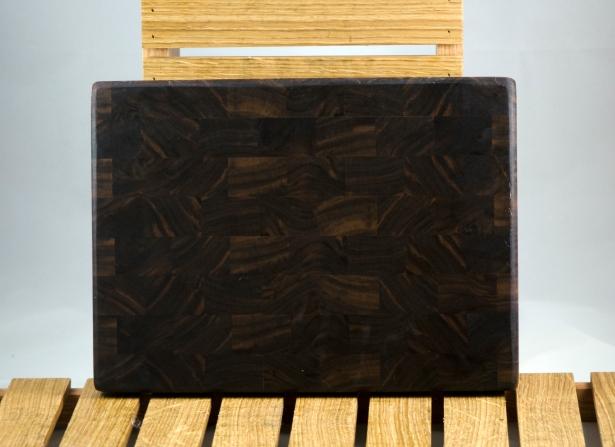 """Small Board 16 - 013. Black Walnut. End Grain. 8"""" x 11"""" x 1""""."""